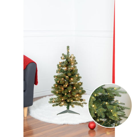 3' Sapin Noble Avec Lumieres, 152 Bouts | 3' Prelit Noble Tree, 152 Tips