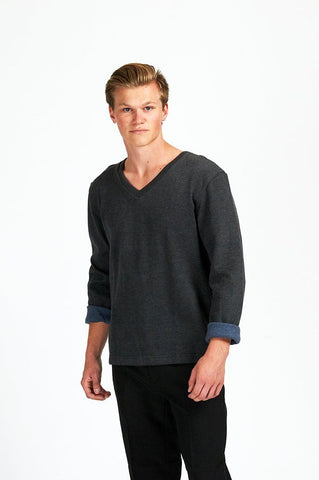 Mens Sweater Banana Republic Vneck/Black/Asst