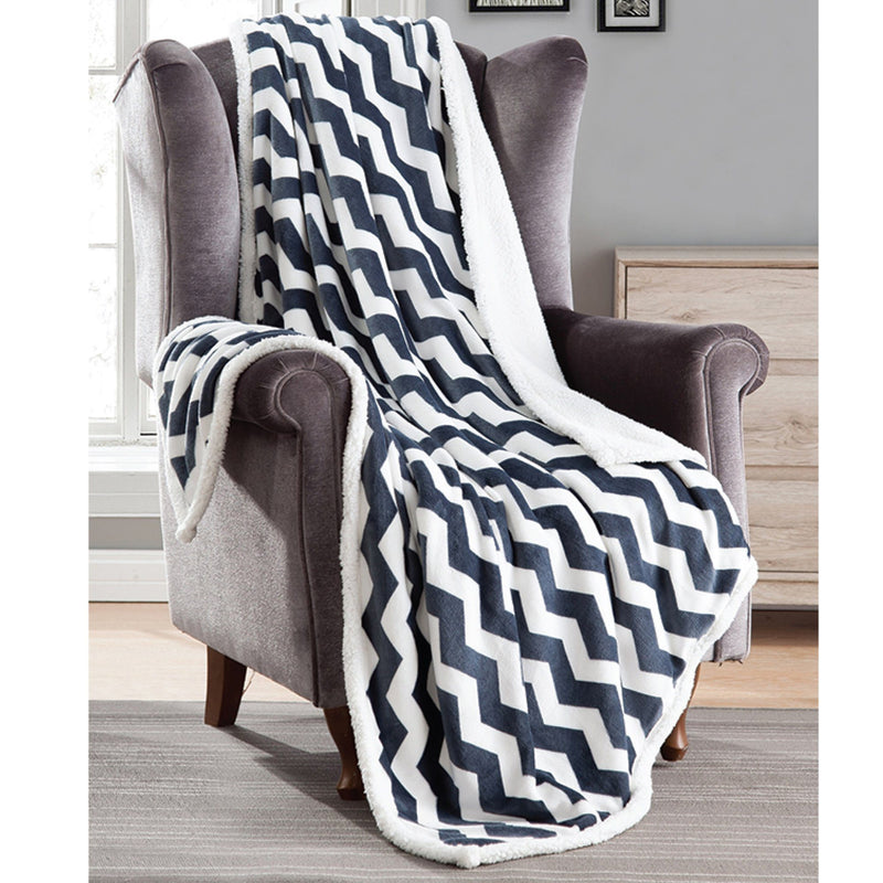 Adele Fleece to Sherpa Printed Throw - Magasins Hart | Hart Stores