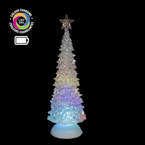 "12.5"" Arbre Acryl. A/Del Lum Changeante 