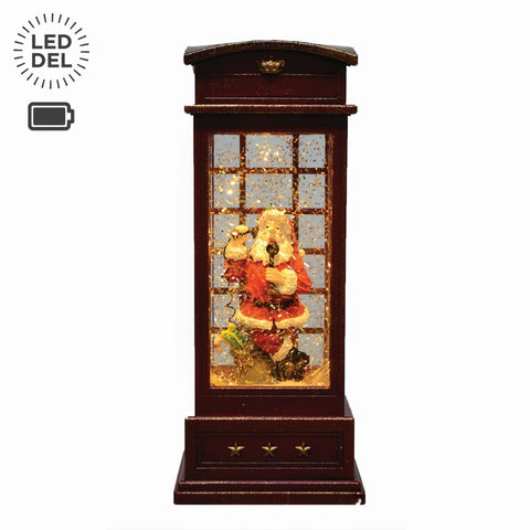 "9.8"" Telephone Booth Led Lantern, B/O"