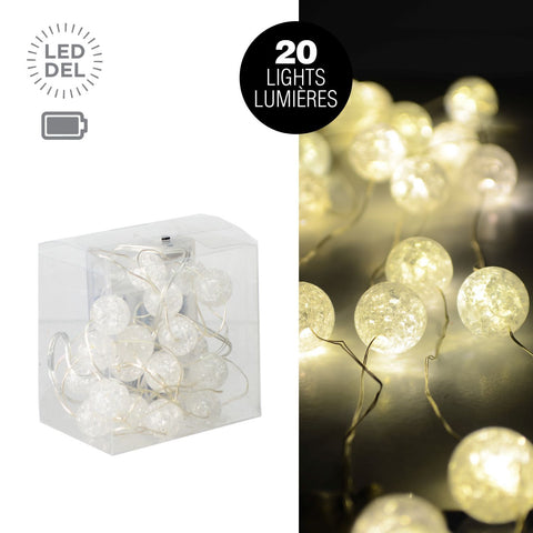 20L Led Microdot Set With Acrylic Balls