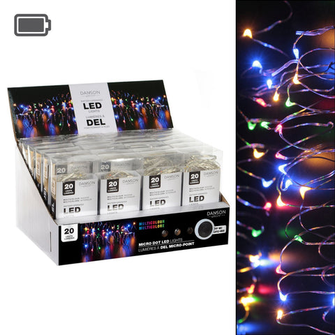 7.38' Led 20L Micro-Dot String Lights