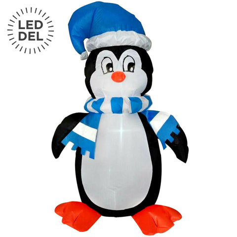 4' Inflatable Standing Penguin, 3 Led