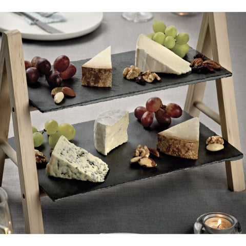2 Tier Snack and Cheese Slate Tray