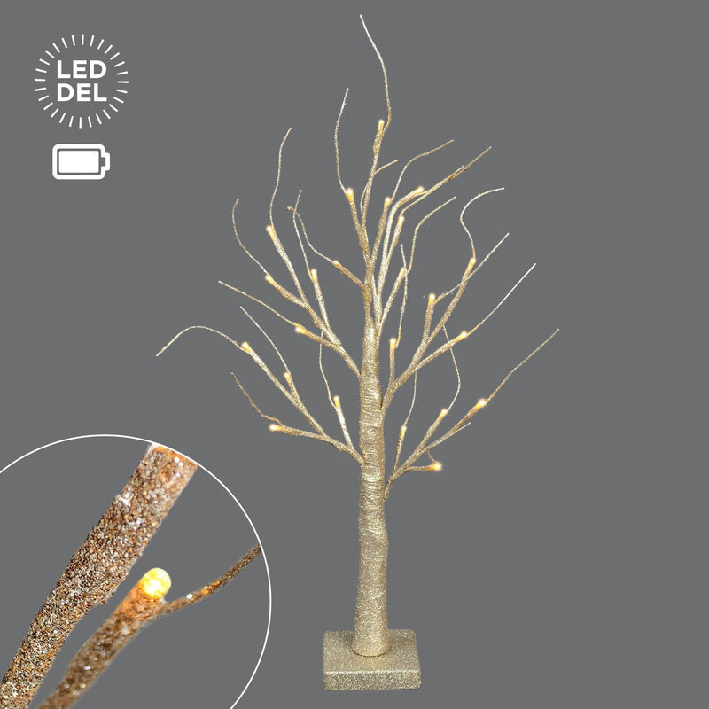"24""B/O Champagne Glitter Tree, 24 Lts. - Magasins Hart 
