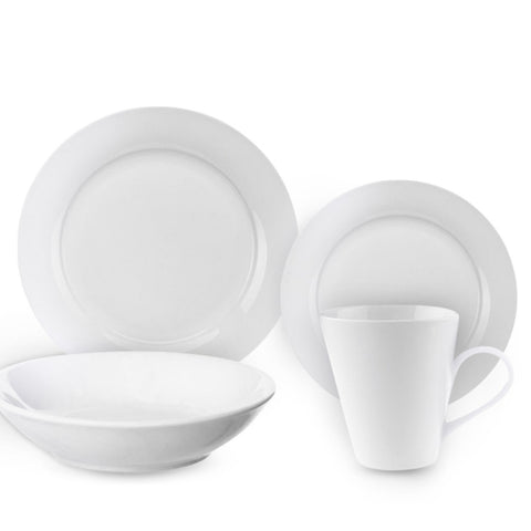 16 Piece Basic White Dinnerware Set