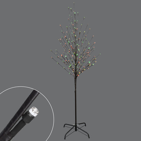Arbre 6' Avec 204L Del Change De Couleur | 6' 204L Red & Green Color Changing Tree