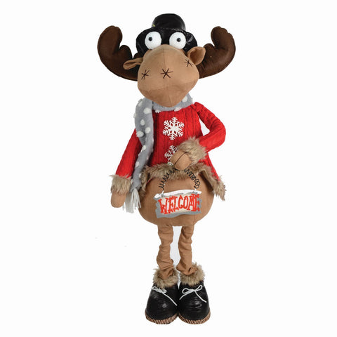 "24""-36"" Extendable Fabric Reindeer"