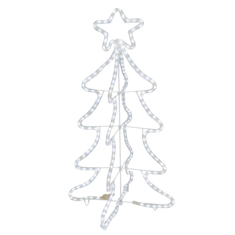 "36"" Led Snowflake Rope 3D Tree"