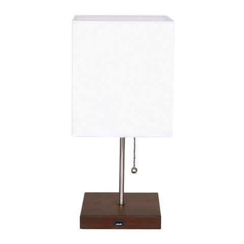Table Lamp with Device Charger Base