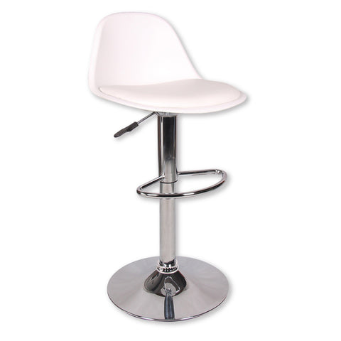 Smith Adjustable Barstool - PU White