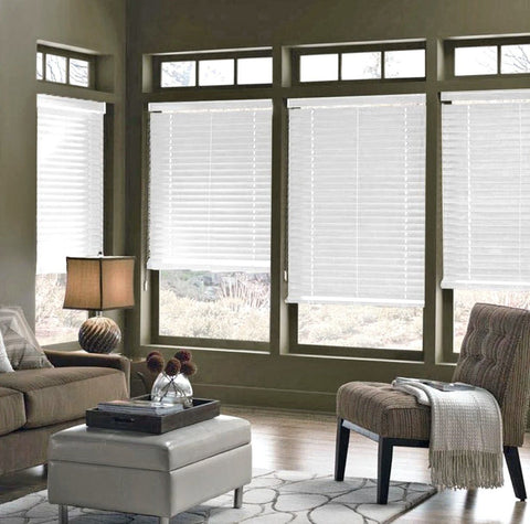 Faux Wood Blinds - Beige