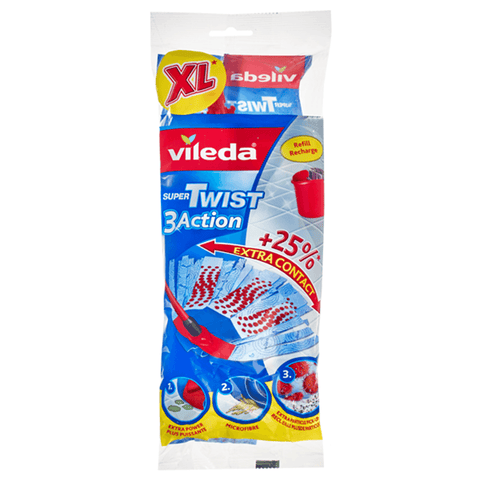 Recharge Vadrouille Super Twist XL - Vileda | Super Twist XL Mop Refill - Vileda