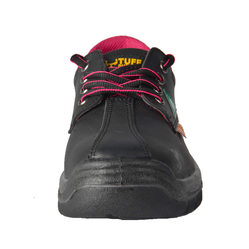 Tuff & Durable® - Lace Up Work Shoes with Steel Toe & Plate | Black - Magasins Hart | Hart Stores