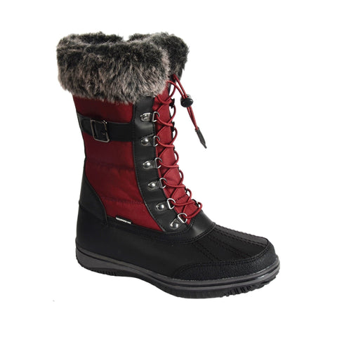 Red and Black Waterproof boots for Women