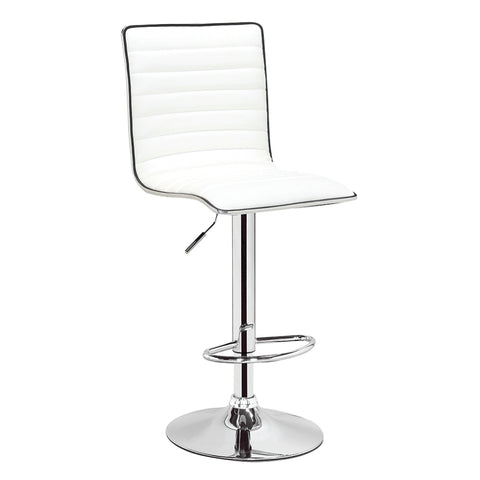 Adjustable Barstool - PU White