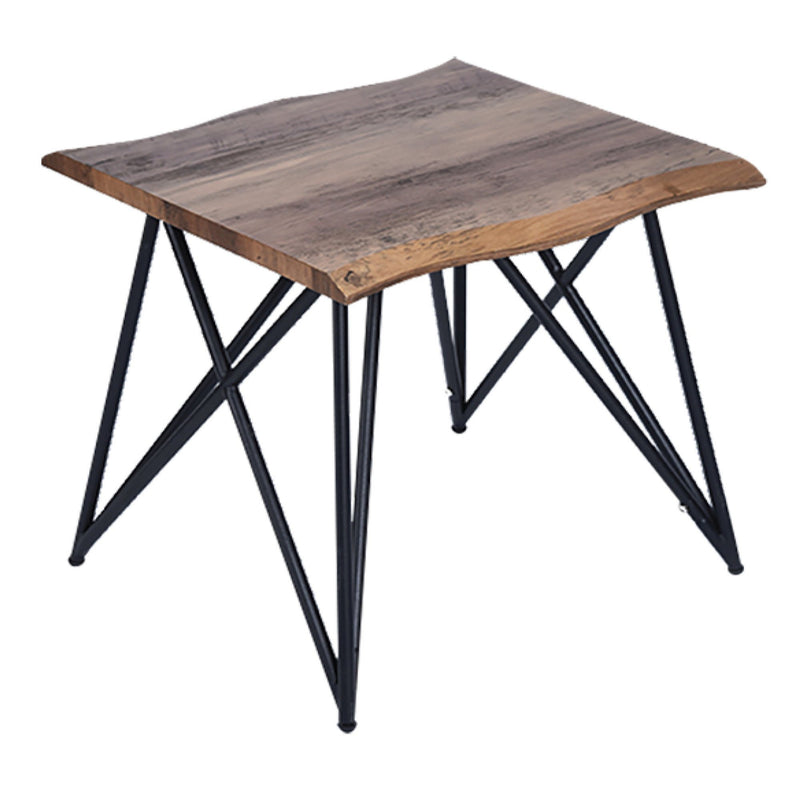 Wood and Metal Square Side Table - Magasins Hart | Hart Stores