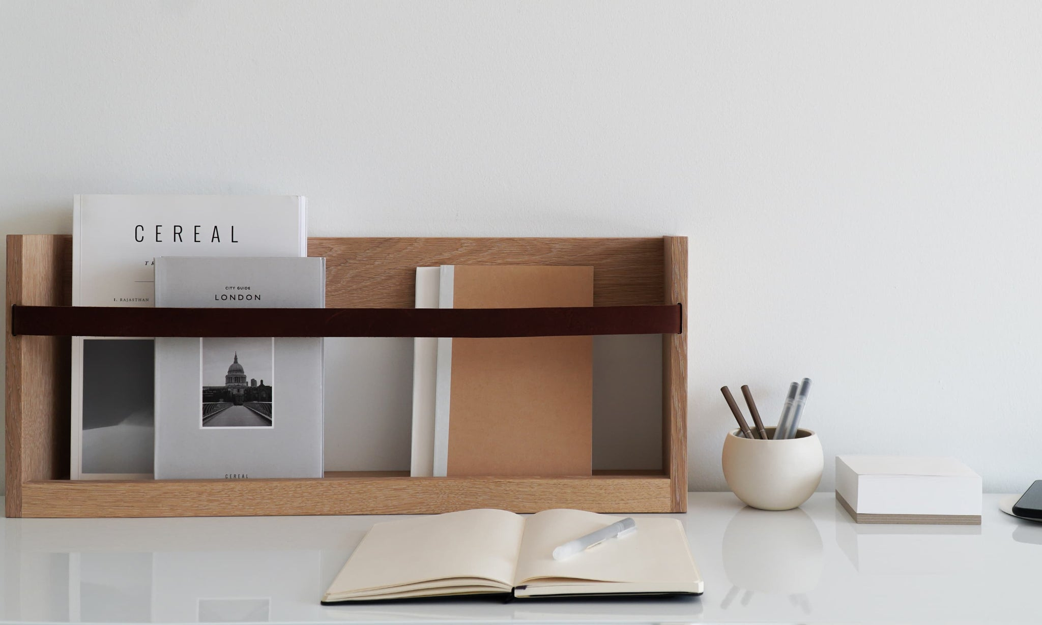 A wall magazine rack made for more than magazines