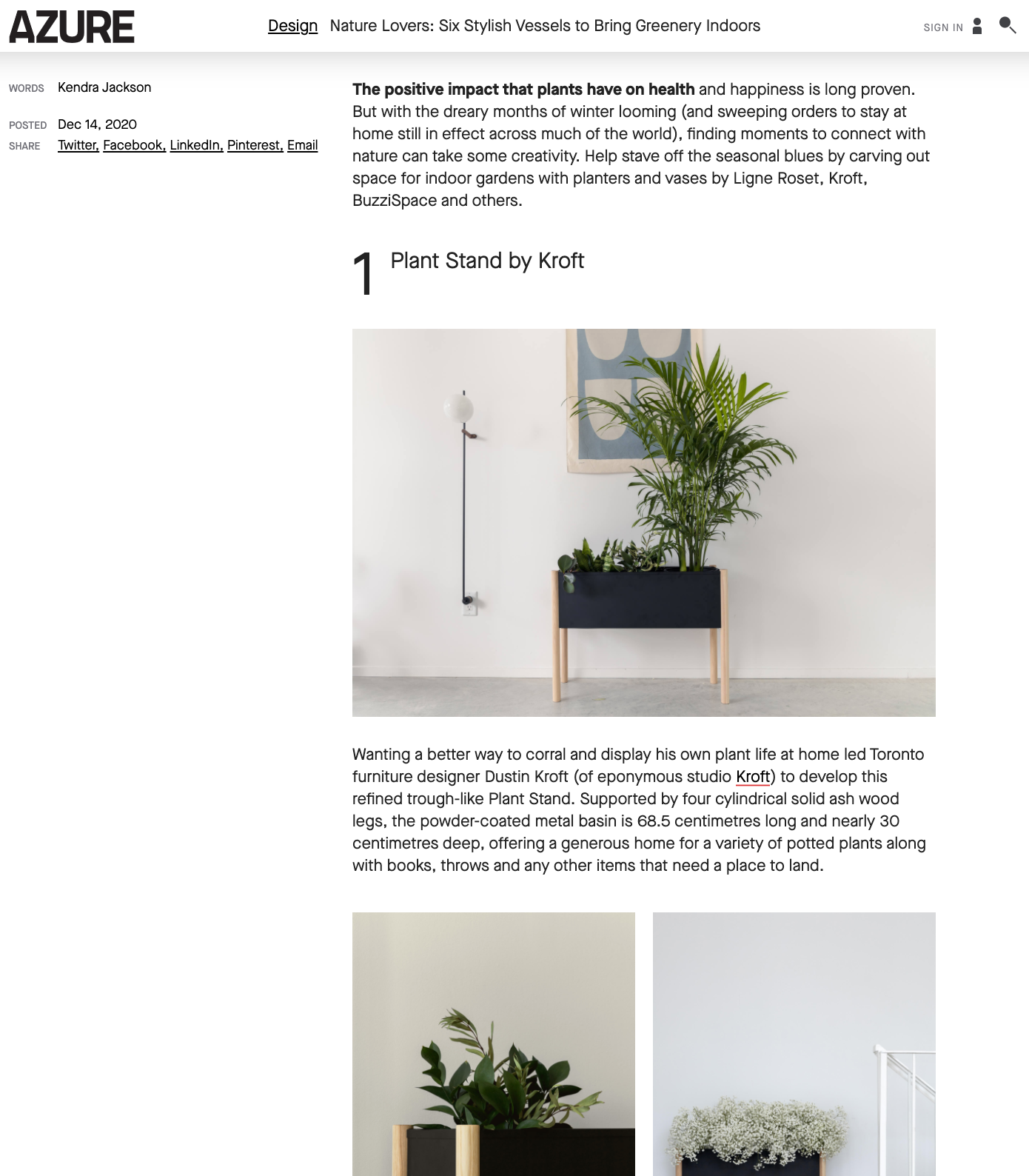 Plant Stand for the Modern Home