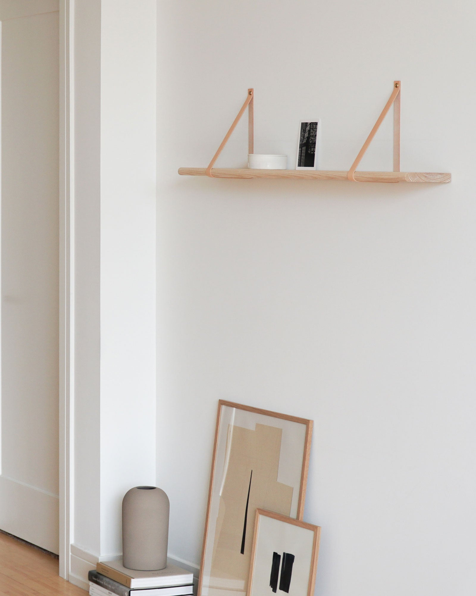 Leather Strap Shelf