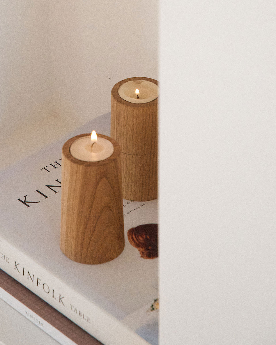 Tea Light Candle Holders Oak