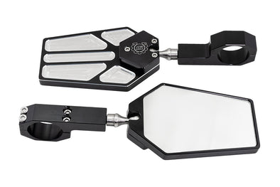"Deviant 45902 Billet Side Mirrors for 1.75"" Tube"