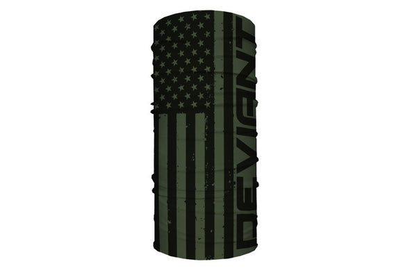Face Shield | Deviant Flag | Olive Green
