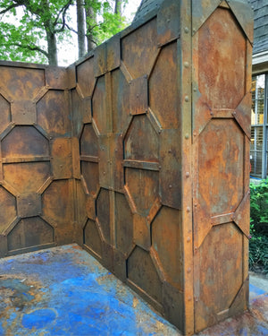 Brutal Rust Bunker panel wall