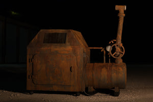 Brutal Rust Antique Steam Boiler