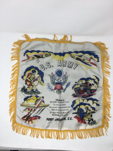 1950s Fort Jackson SC souvenir pillow covers