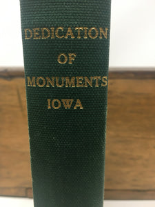 Dedication of Iowa Monuments