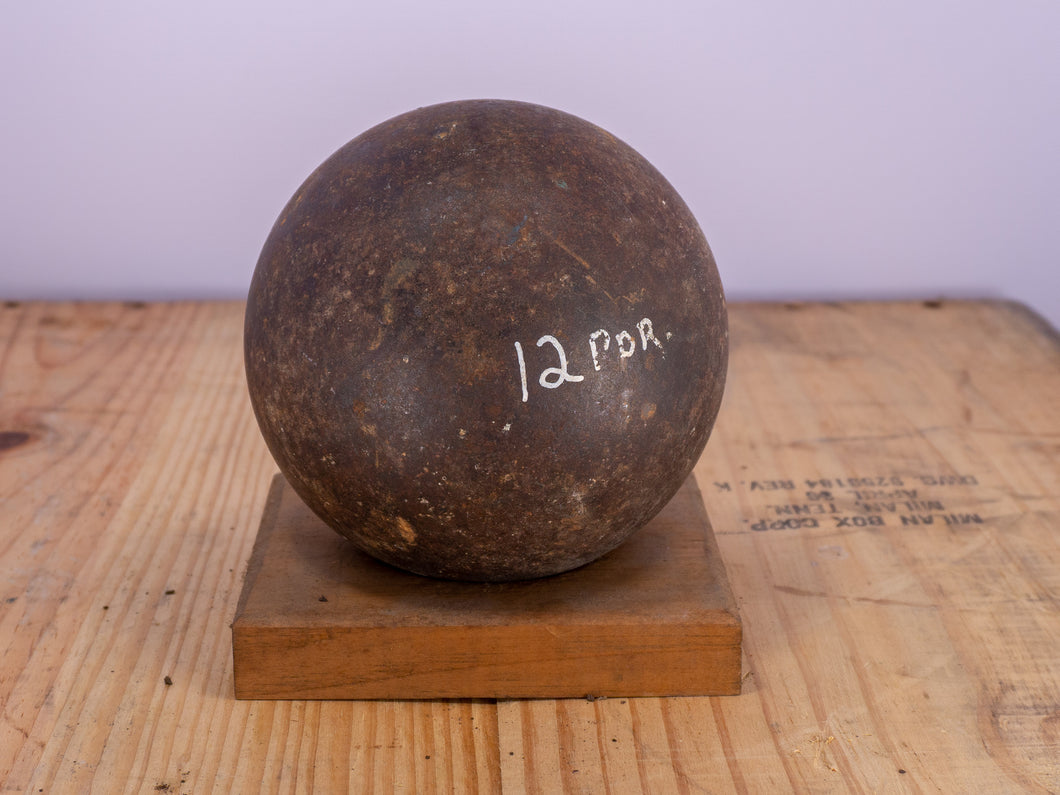 Authentic 12 Pound Civil War Cannonball Solid Shot