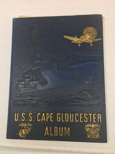 USS CAPE GLOUCESTER ALBUM/with plank owner certificate