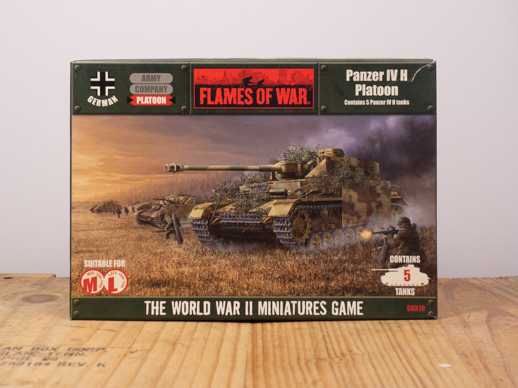 Flames of War Panzer IV H Platoon