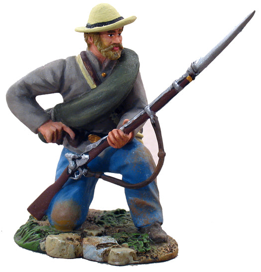 Britain Figures - Civil War Confederate Infantry Kneeling Loading No.1