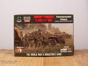 Flames of War Panzergrenadier Platoon Miniature Set