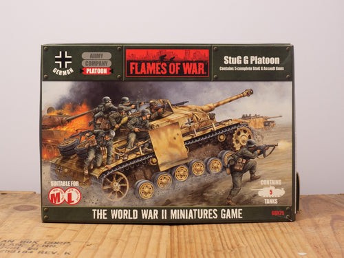 Flames of War StuG G Platoon Miniature Set