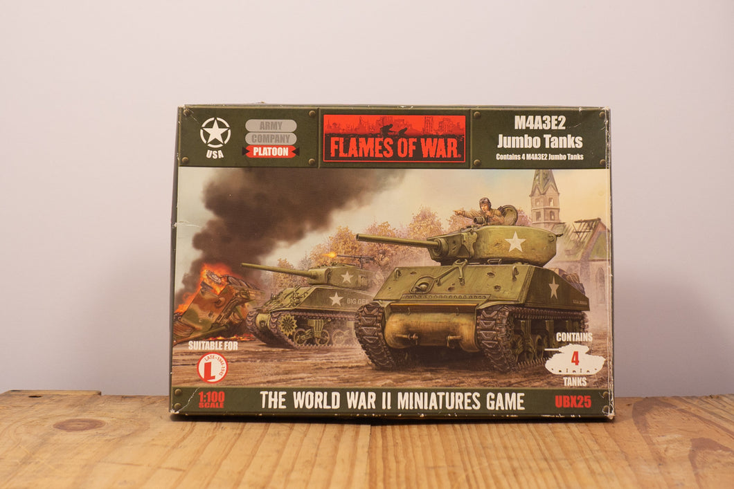Flames of War M4A3E2 Jumbo Tanks Miniature Set