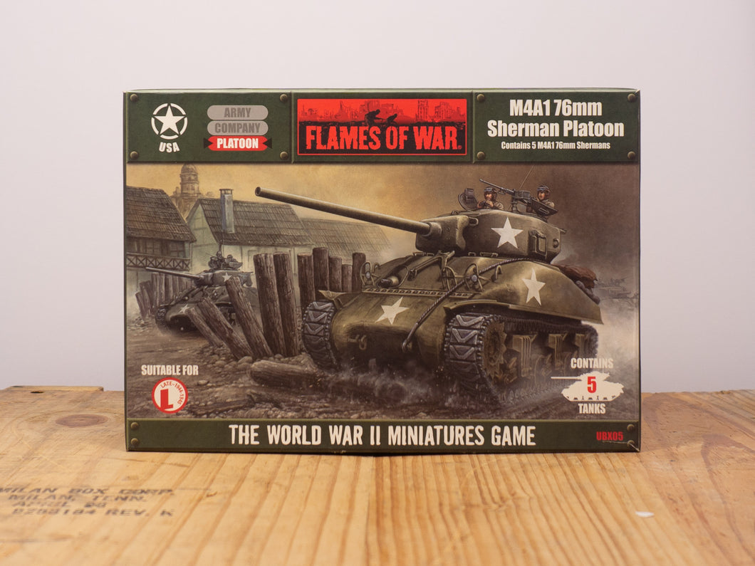 Flames of War M4A1 - 76mm Sherman Platoon Miniature Set