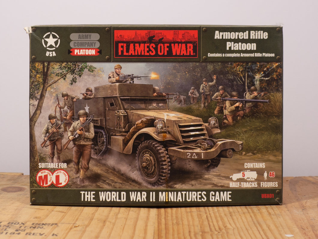 Flames of War Armored Rifle Platoon Miniature Set