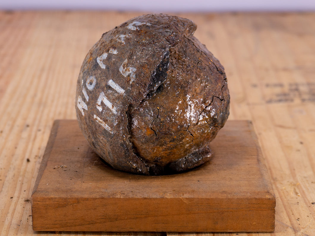 Authentic 6 Pounder Cannonball  Recovered from the 1715 Rio Mar Ship wreck