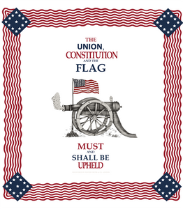 Civil War Handkerchief - Union, Constitution, & Flag