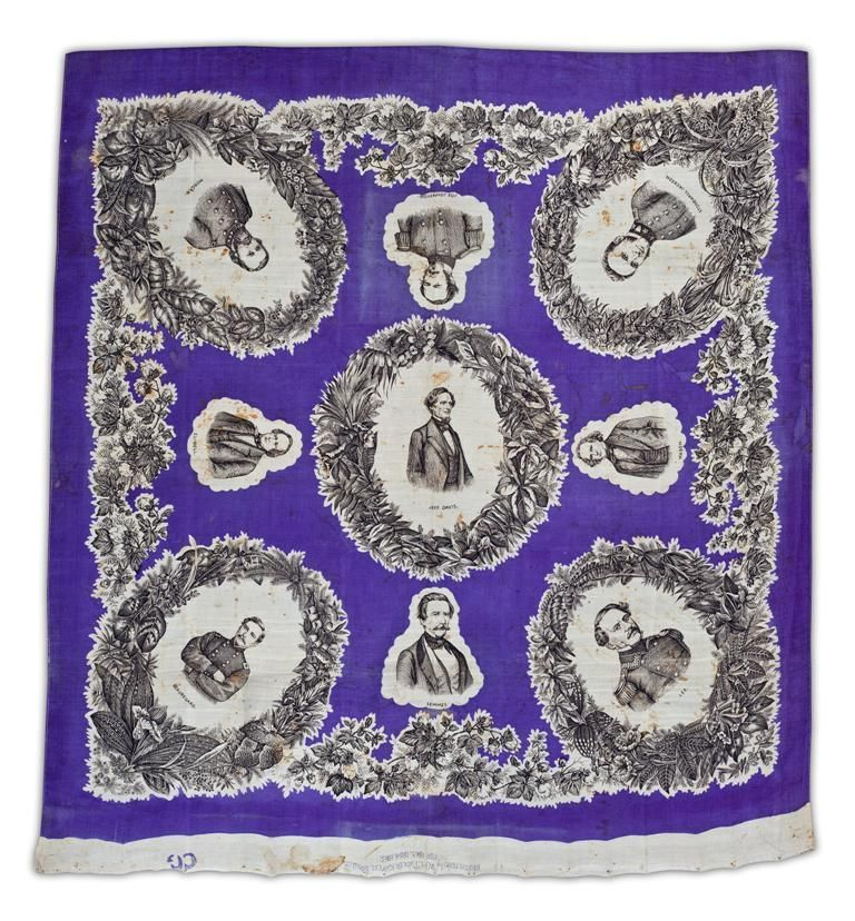 Civil War Handkerchief - W.H. Tucker Kayess, English Import