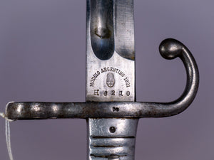 Model 1891 Argentino Bayonet (matching scabbard & National Crest)