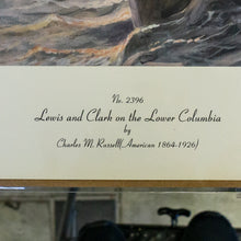Collograph Print - Charles M. Russell - No. 2396 Lewis and Clark on the Lower Columbia
