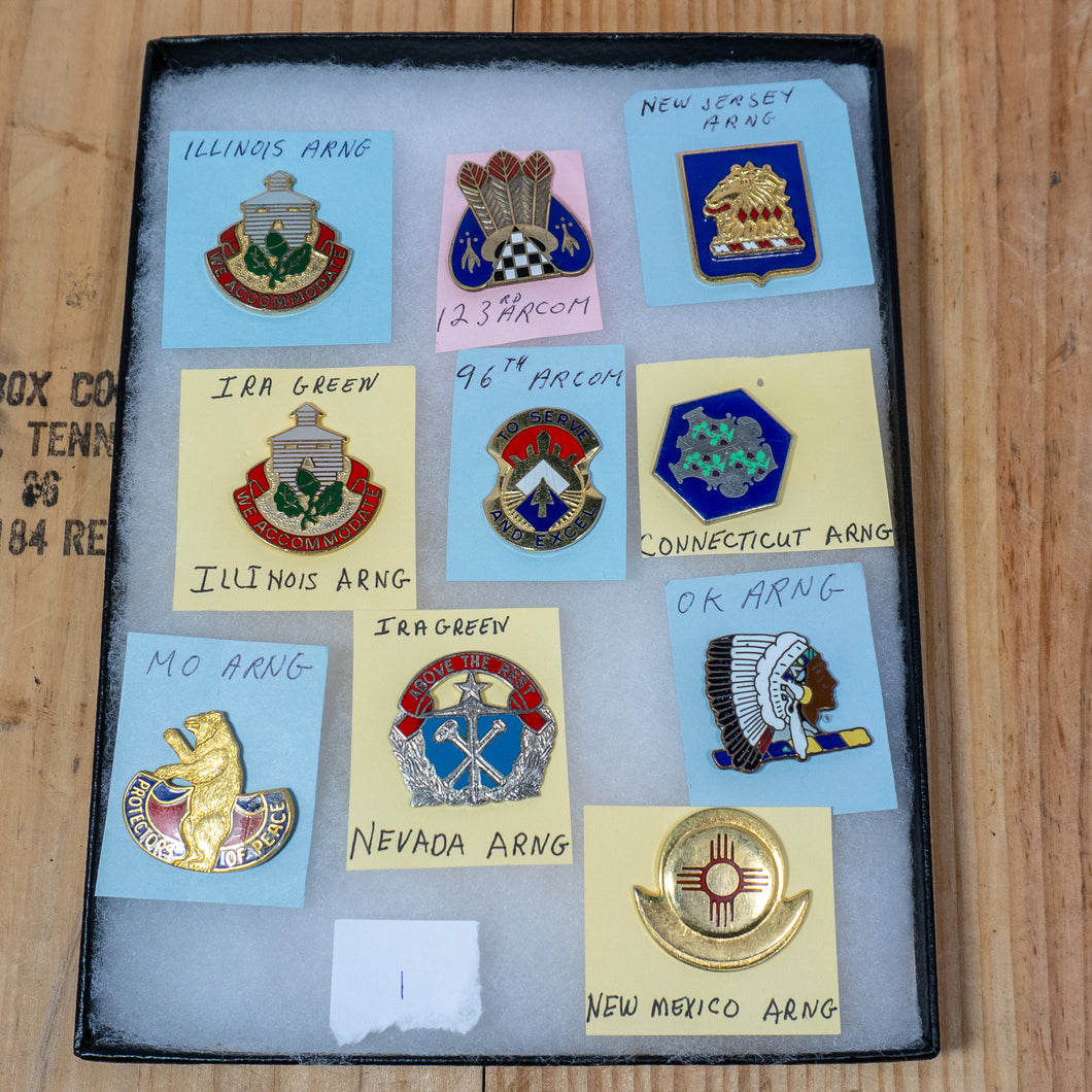 Lot of 10 Distinctive Unit Insignia / Unit Crest  - Lot #1