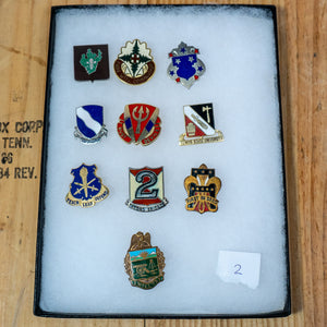 Lot of 10 Distinctive Unit Insignia / Unit Crest  - Lot #2