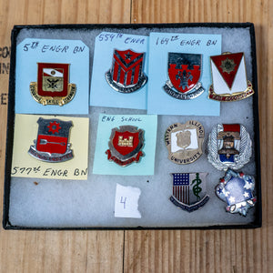 Lot of Ten Distinctive Unit Insignia / Unit Crest  - Lot #4