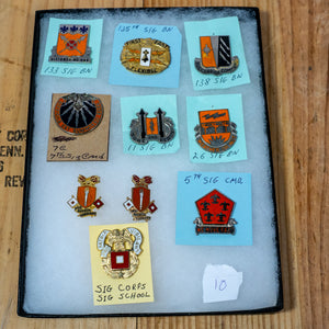 Lot of 10 Distinctive Unit Insignia / Unit Crest  - Lot #10